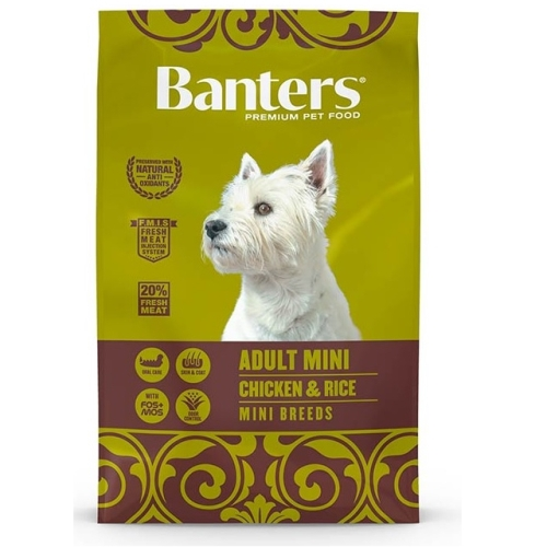 Banters dog adult mini chicken y rice 3 kg